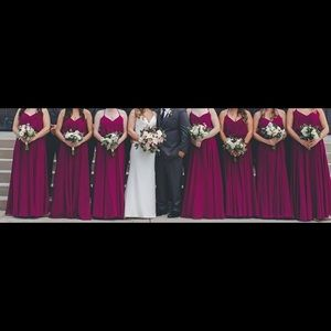 Hayley Paige #5752 Bridesmaids dress color:Azalea